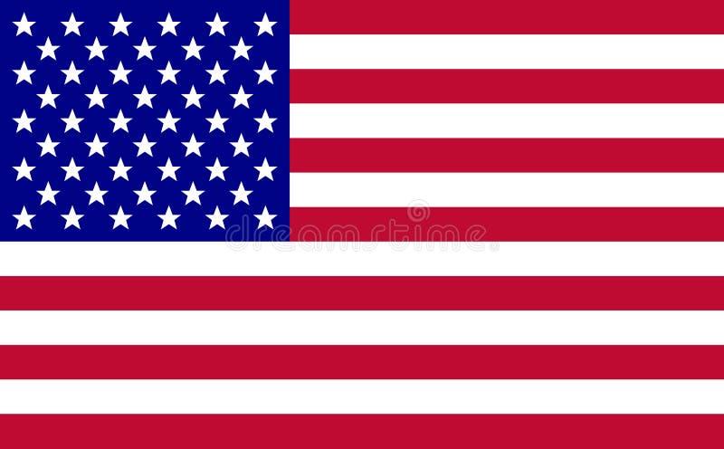 Vector de la bandera de los E.E.U.U. ilustración del vector