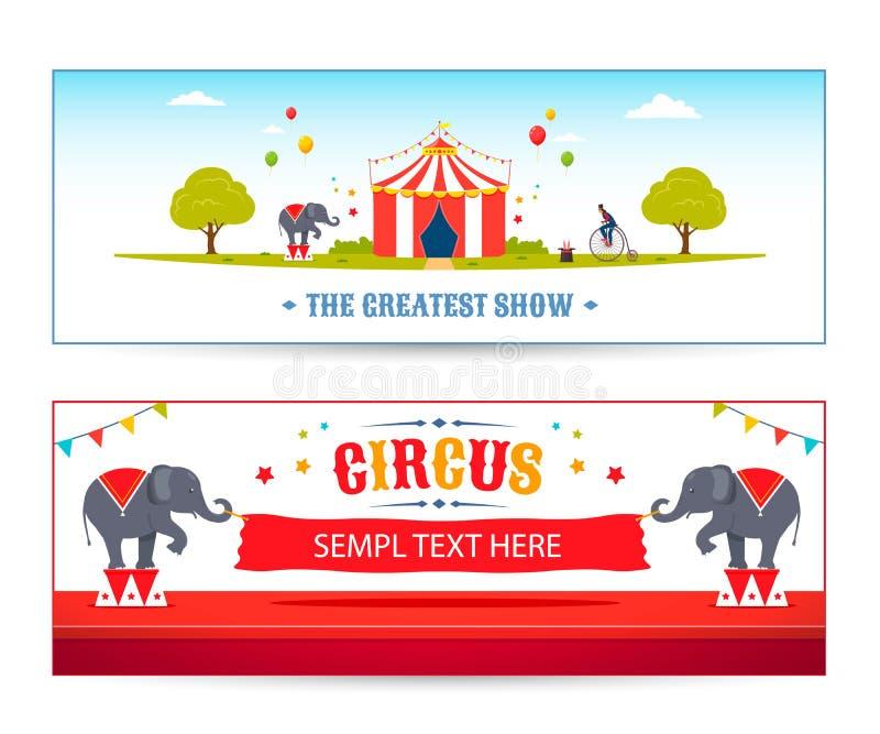 Vector de la bandera del circo stock de ilustración