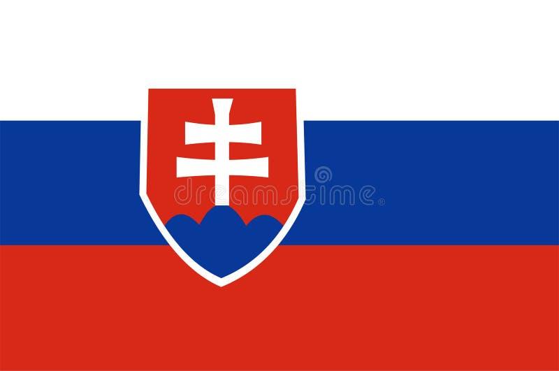 Vector de la bandera de Eslovaquia, bandera de Eslovaquia Ejemplo de eslovaco stock de ilustración