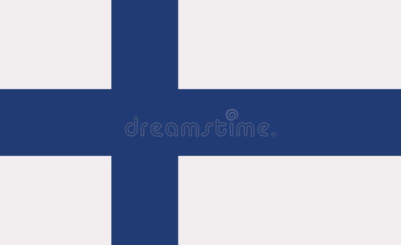 Vector de la bandera de Finlandia libre illustration