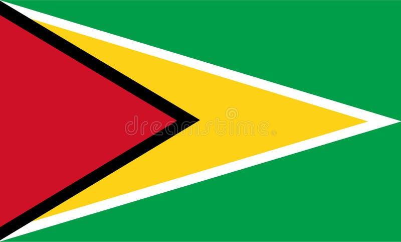 Vector de la bandera de Guyana Ejemplo de la bandera de Guyana stock de ilustración