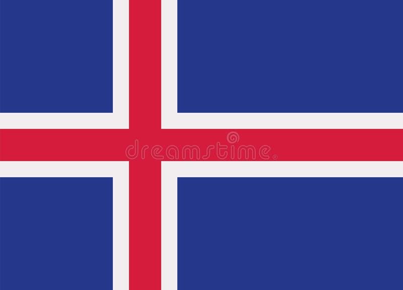 Vector de la bandera de Islandia stock de ilustración