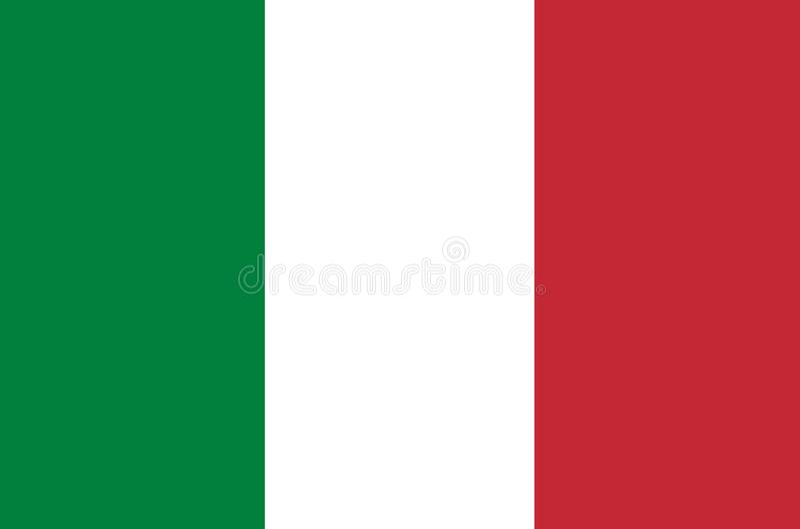 Vector de la bandera de Italia Ejemplo de la bandera de Italia libre illustration