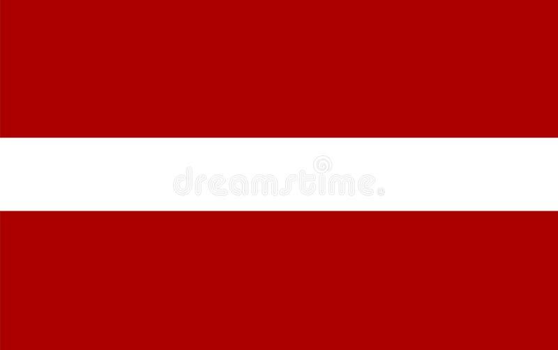 Vector de la bandera de Letonia Ejemplo de la bandera de Letonia stock de ilustración
