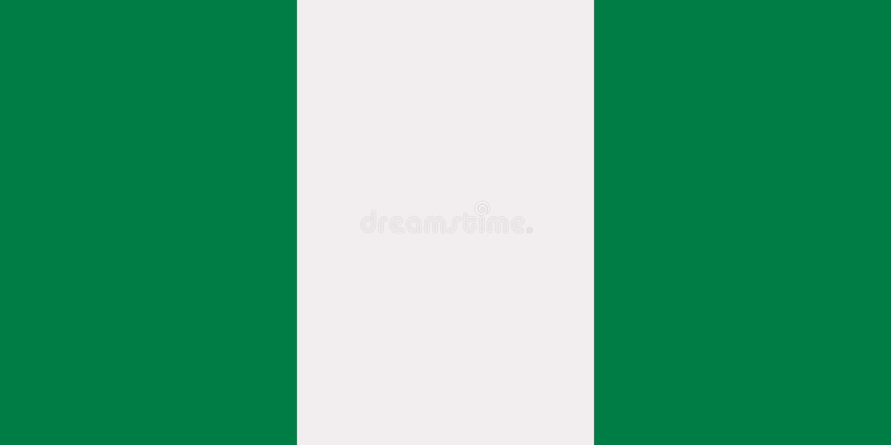 Vector de la bandera de Nigeria ilustración del vector