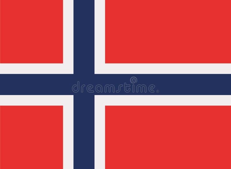 Vector de la bandera de Noruega stock de ilustración