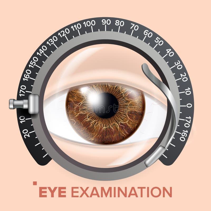 Vector de la bandera de la prueba del ojo Consulta de la clínica Optometrista Check Ejemplo del fondo médico libre illustration