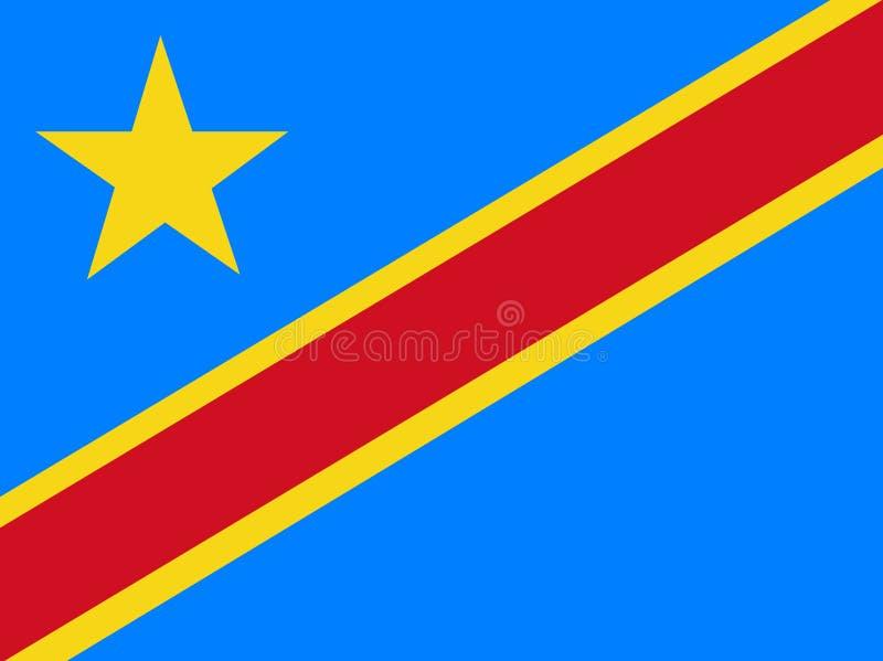 Vector de la bandera de República Democrática del Congo Ejemplo de la estafa ilustración del vector