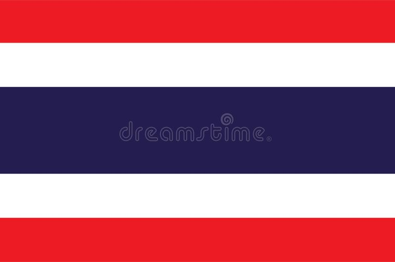 Vector de la bandera de Tailandia Ejemplo de la bandera de Tailandia libre illustration