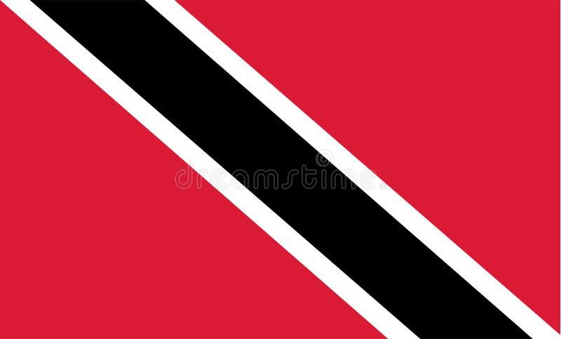 Vector de la bandera de Trinidad y de Trinidad y Tobago Ejemplo de Trinidad y de Trinidad y Tobago stock de ilustración