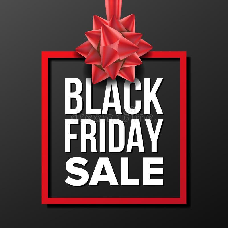 Vector de la bandera de la venta de Black Friday Vector Ejemplo de la publicidad de negocio Diseño para el web, aviador, tarjeta  ilustración del vector