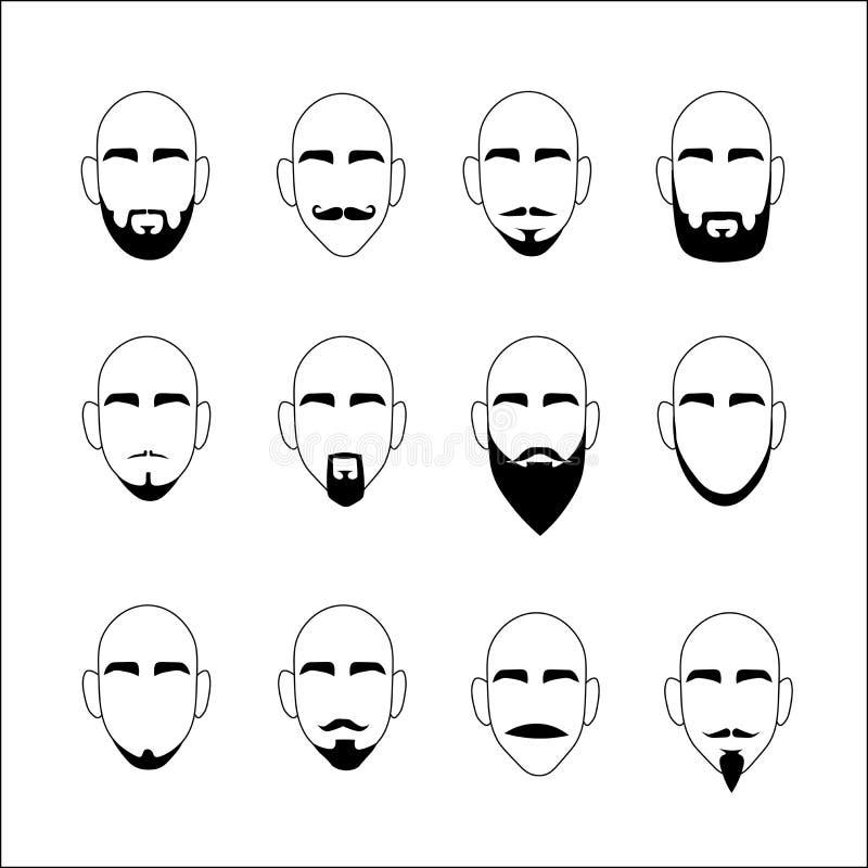 Vector de la barba en un fondo blanco foto de archivo