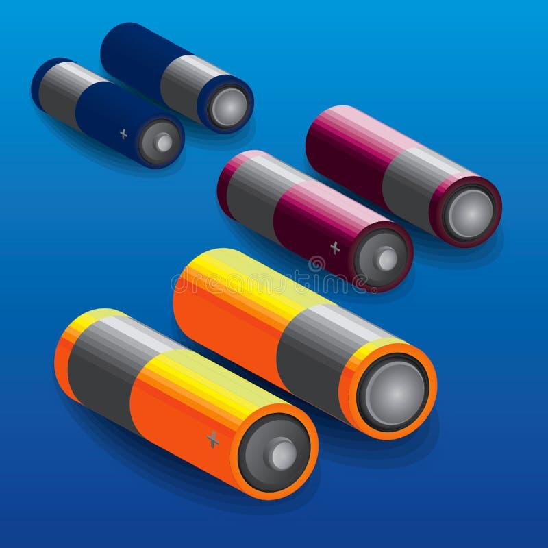 Vector de la batería 3d fotografía de archivo libre de regalías