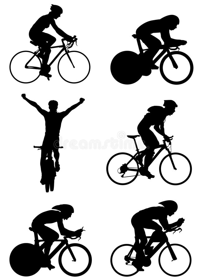 Vector de la bicicleta stock de ilustración
