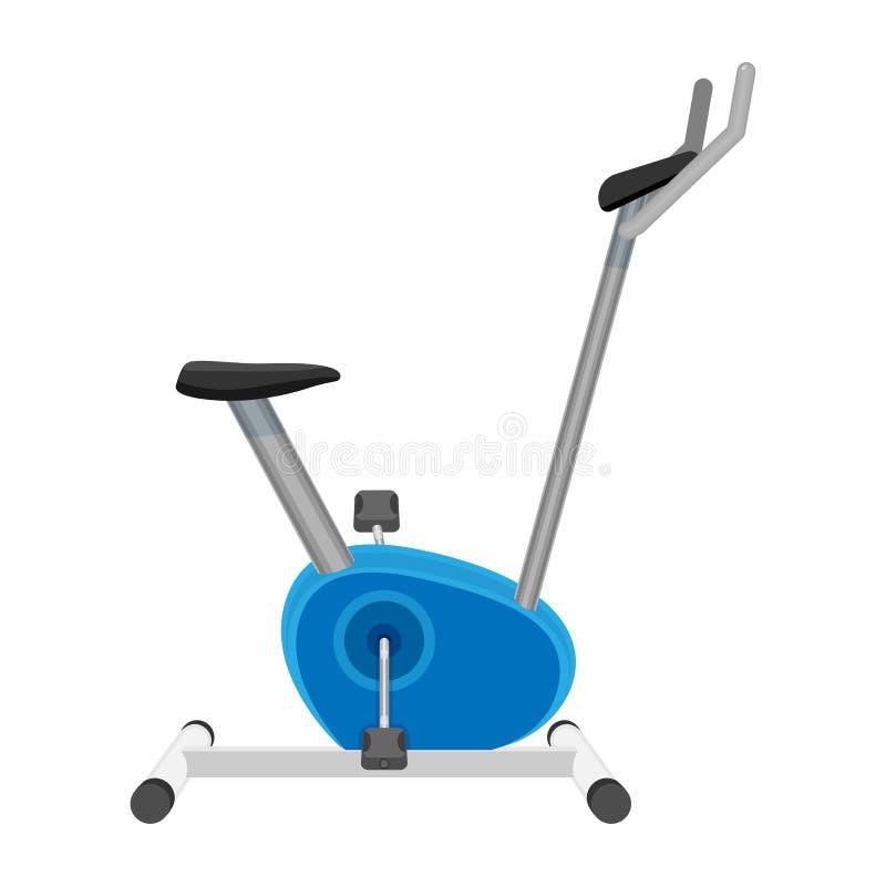 Vector de la bicicleta estática o del orbitrek aislado en blanco Equipo de deporte ilustración del vector