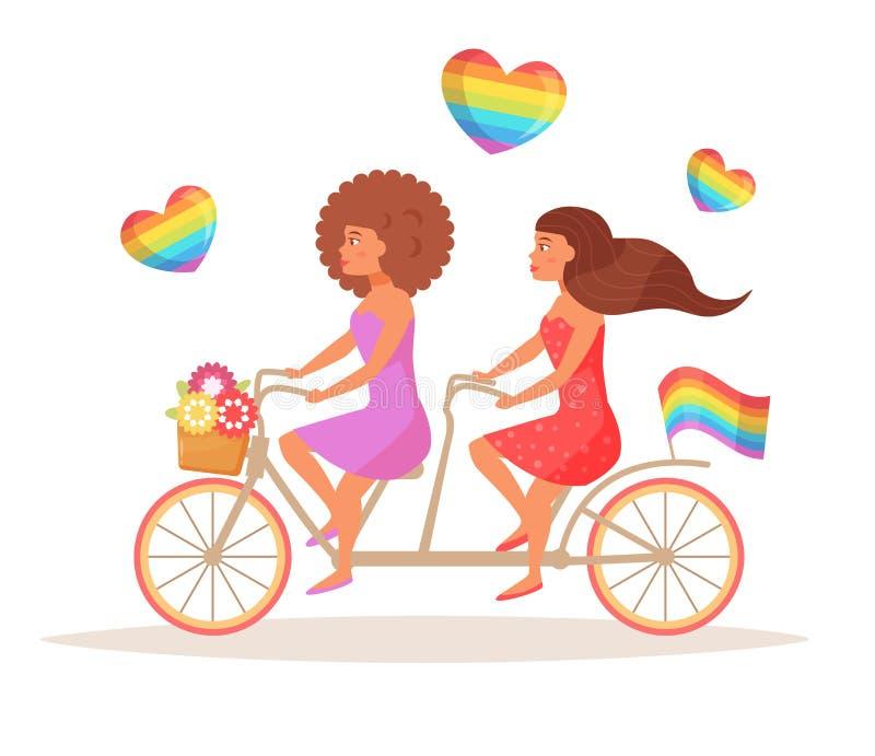Vector de la bicicleta LGBTQ ilustración del vector