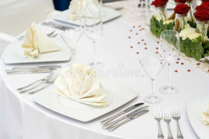 Vector de la boda fijado para la cena imágenes de archivo libres de regalías