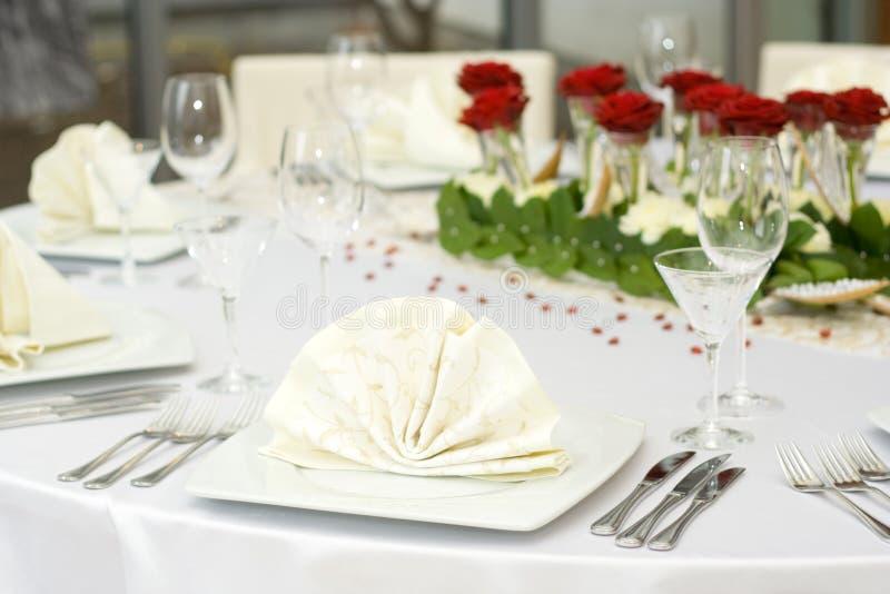 Vector de la boda fijado para la cena fotografía de archivo