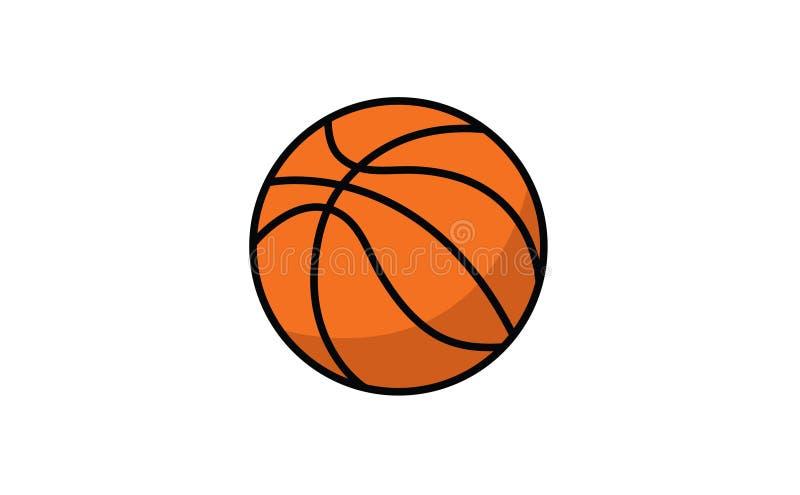 Vector de la bola del equipo del juego de baloncesto stock de ilustración