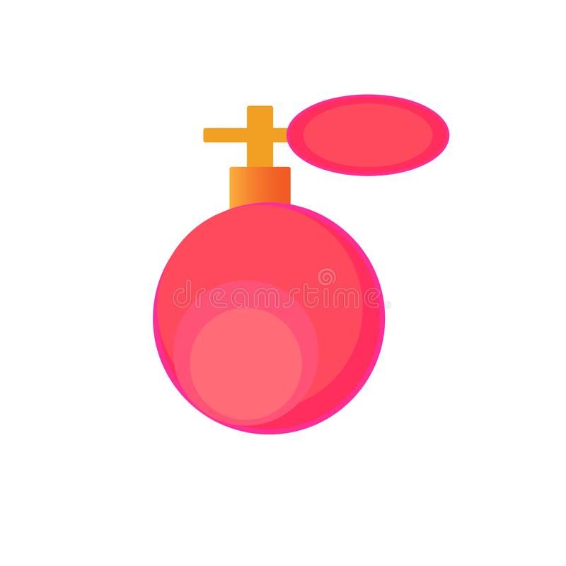 Vector de la botella de perfume de la web Moda y estilo stock de ilustración