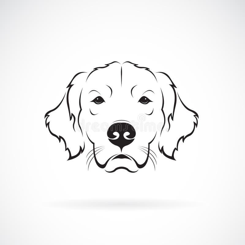Vector de la cabeza de perro Rretriever de oro en un fondo blanco pet Animales Logotipo o icono del perro Vector acodado editable libre illustration