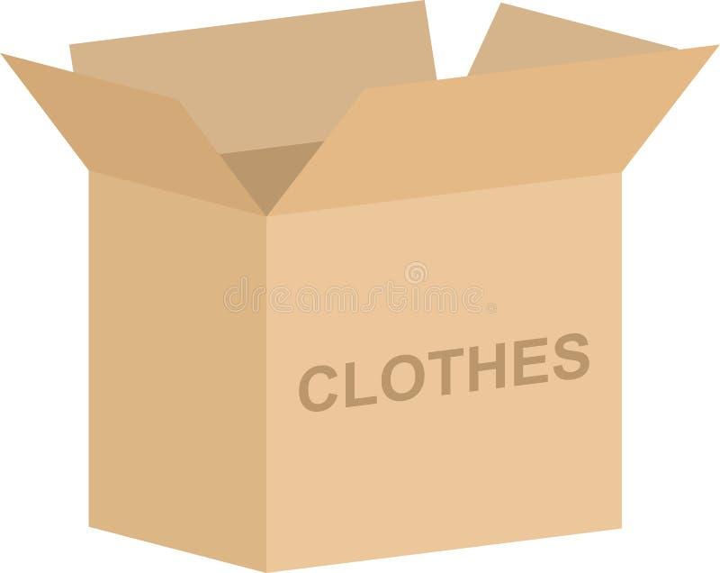 Vector de la caja de la caridad de la ropa ilustración del vector