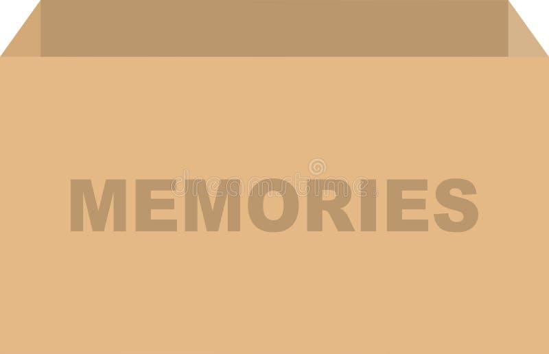 Vector de la caja de las memorias ilustración del vector