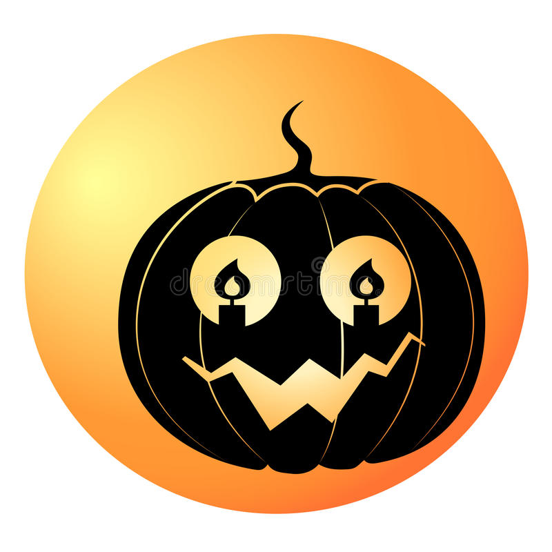 Vector de la calabaza de Halloween fotos de archivo