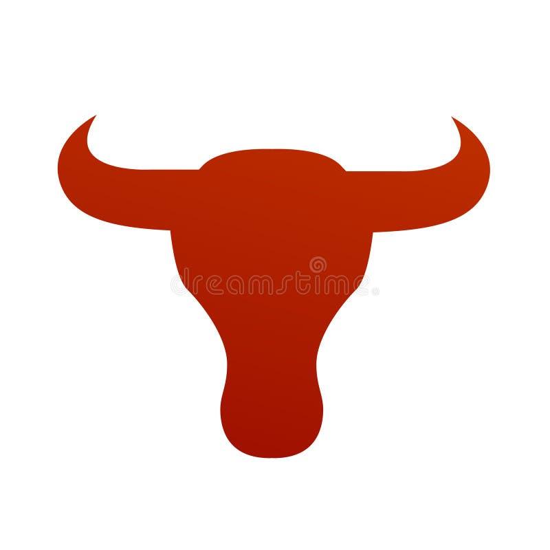Vector de la cara de Bull stylized ilustración del vector
