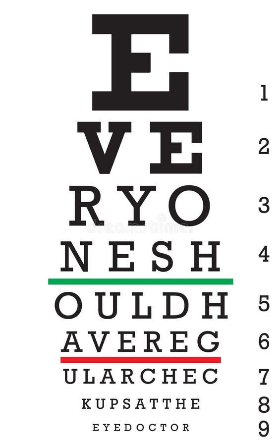 Vector de la carta de ojo libre illustration