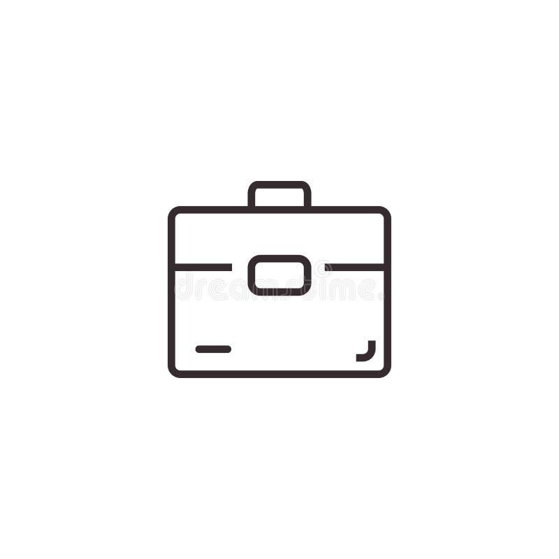 Vector de la cartera, icono del vector del símbolo de la muestra de la cartera, pixel Eps10 perfecto S?mbolo de la oficina stock de ilustración