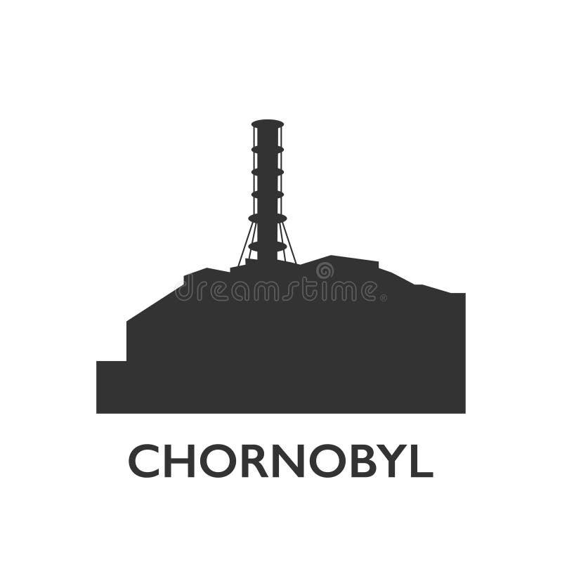 Vector de la catástrofe de la ecología de la central nuclear de Chornobyl ilustración del vector