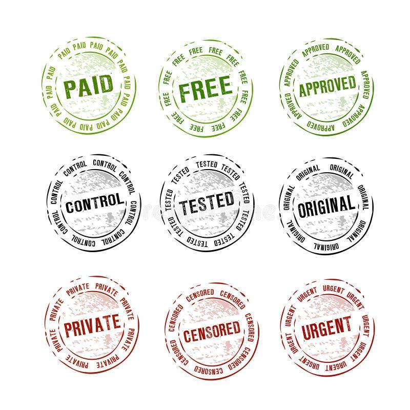 Vector de la colección de los sellos de goma libre illustration