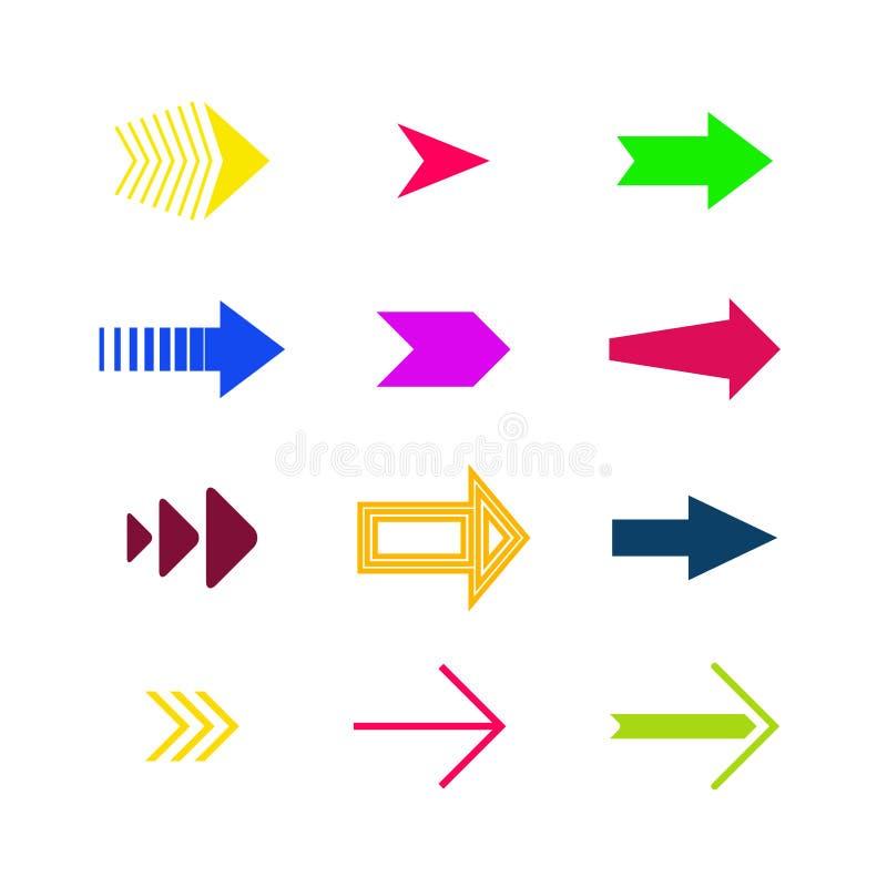 Vector de la colección de la flecha ilustración del vector