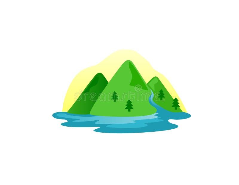 Vector de la colina de la montaña ilustración del vector
