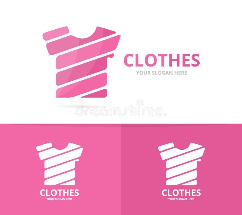 Vector de la combinación del logotipo de la camiseta Ropa y símbolo o icono del paño Ropa única y diseño del logotipo de la moda stock de ilustración
