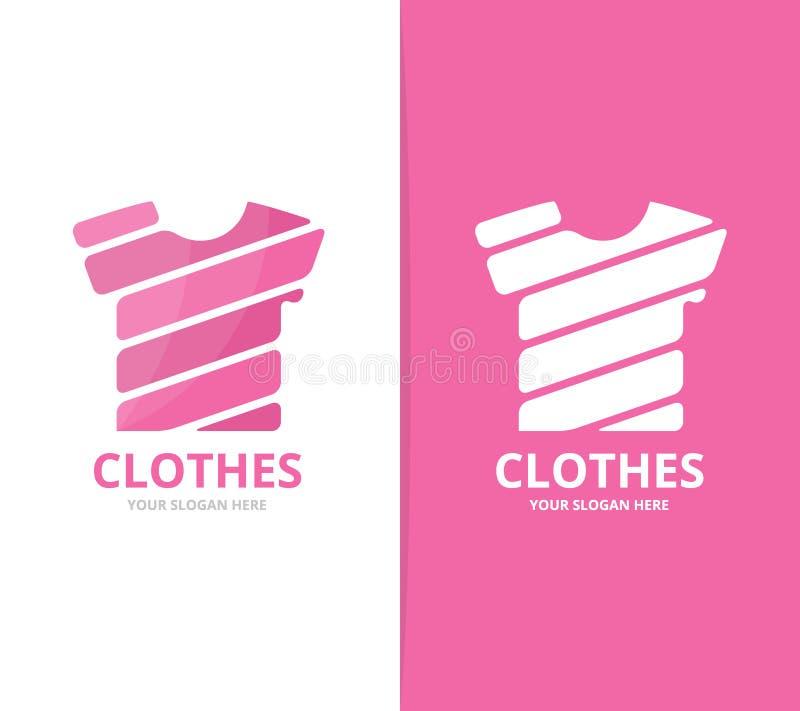 Vector de la combinación del logotipo de la camiseta Ropa y símbolo o icono del paño Ropa única y diseño del logotipo de la moda ilustración del vector