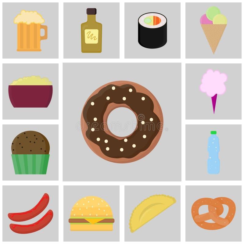 Vector de la comida del icono stock de ilustración