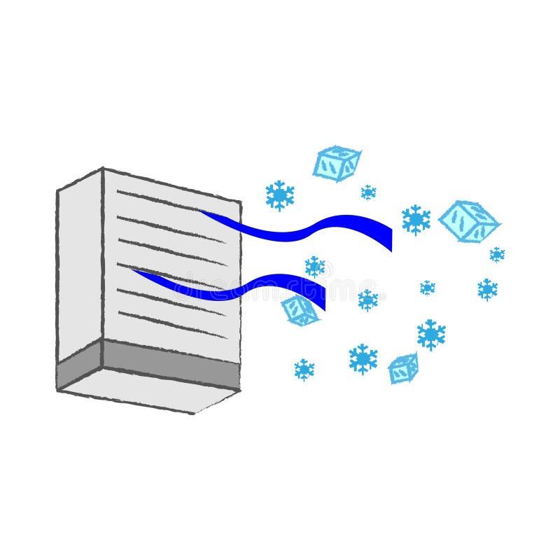 Vector de la condición del aire ilustración del vector