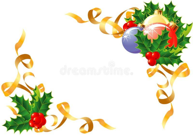 Vector de la decoración de la Navidad stock de ilustración