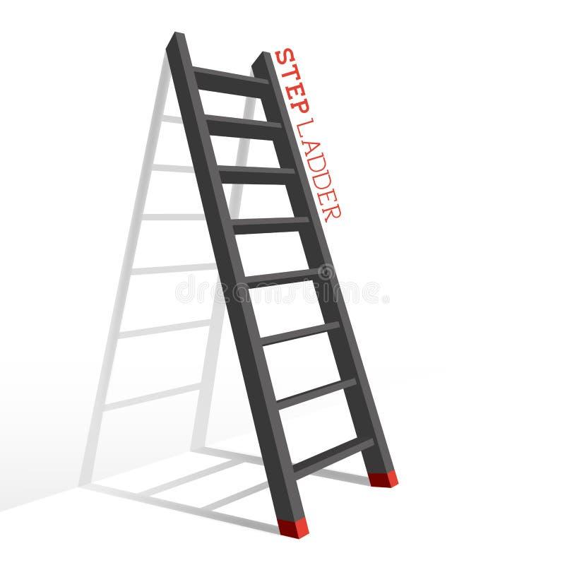 Vector de la escalera de paso del metal stock de ilustración