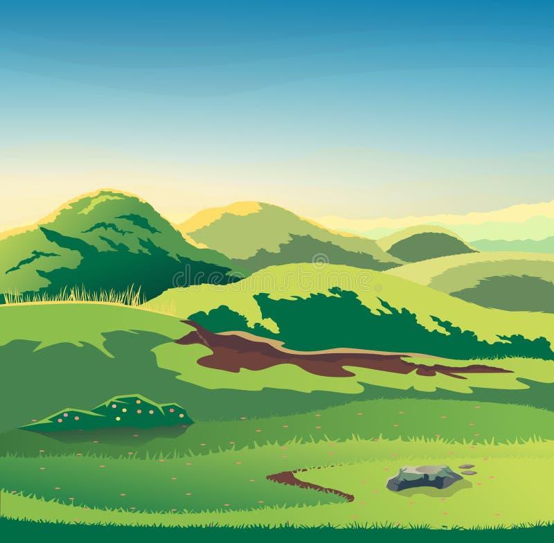 Vector de la estación de las colinas de la naturaleza libre illustration