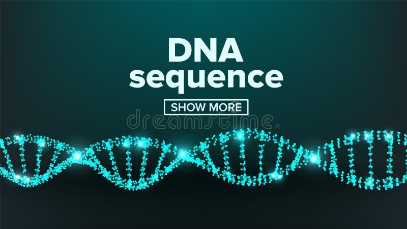 Vector de la estructura de la DNA Diseño del laboratorio Cromosoma sano Átomo de la copia Ejemplo de la prueba de la mutación libre illustration