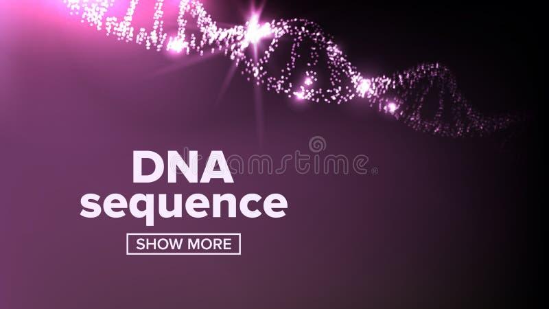 Vector de la estructura de la DNA Símbolo de la evolución Cubierta de la química Elemento microscópico Ilustración stock de ilustración