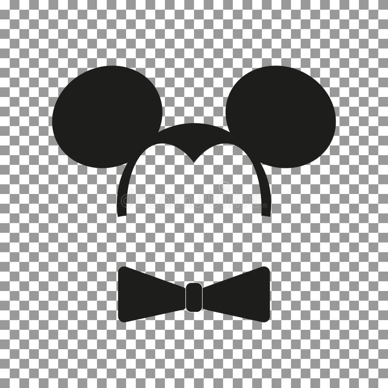 Vector de la etiqueta engomada del ratón stock de ilustración