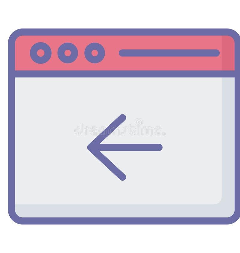 Vector de la flecha dejada relacionado con las ventanas del explorador Web y completamente editable ilustración del vector