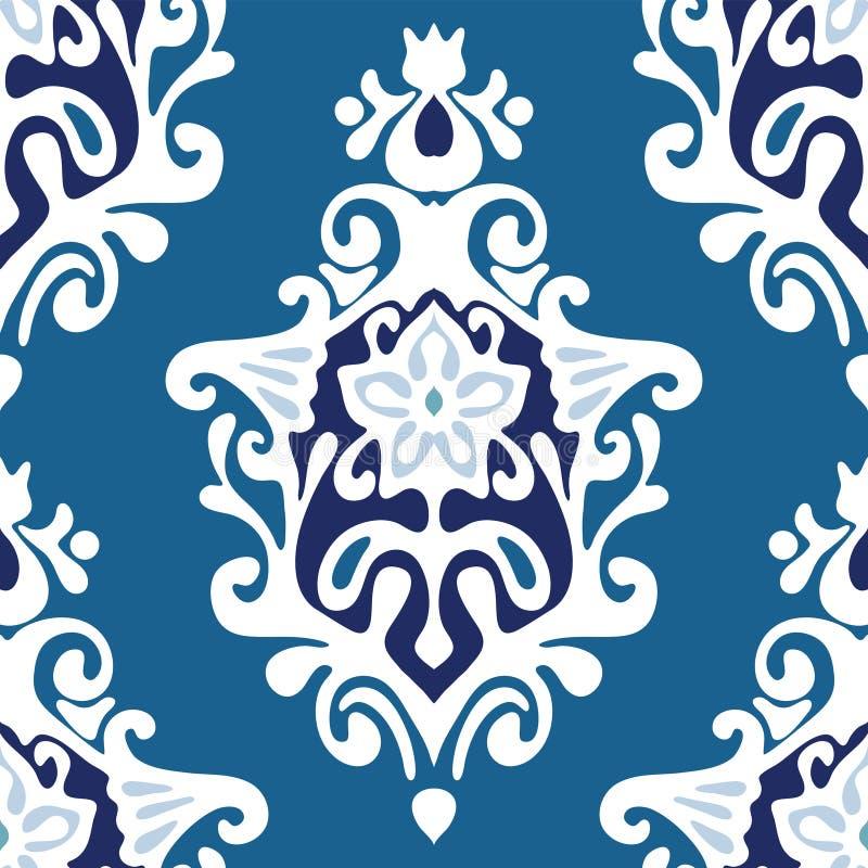 Vector de la flor del damasco inconsútil libre illustration