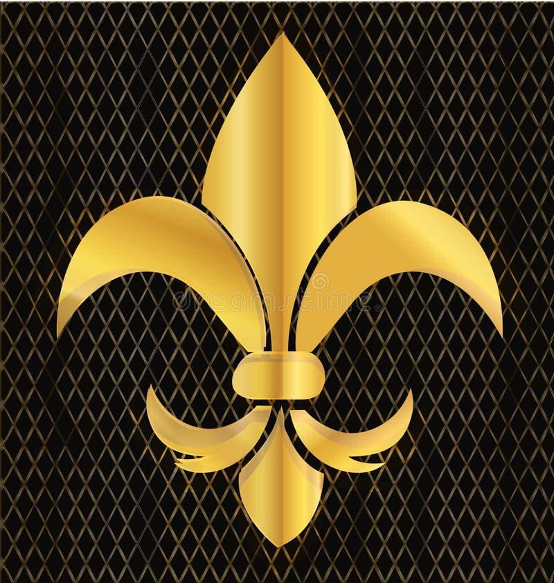 Vector de la flor del emblema del oro libre illustration