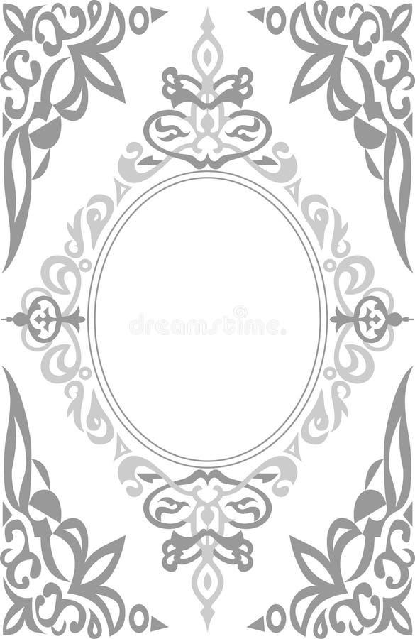Vector de la frontera del marco del ornamento imagen de archivo