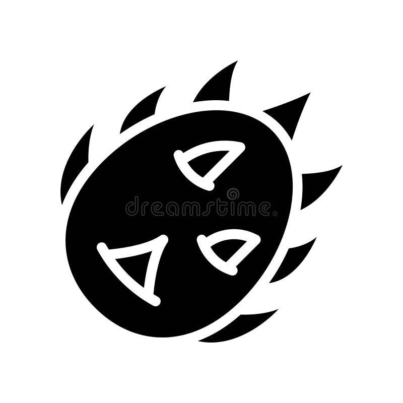 Vector de la fruta del dragón, icono sólido relacionado tropical del estilo ilustración del vector